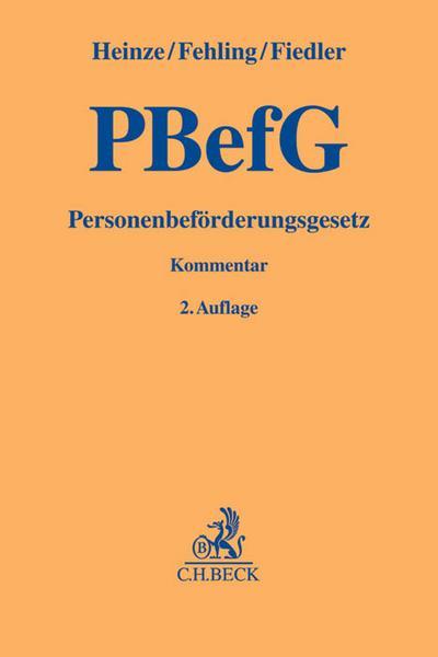 PBefG, Personenbeförderungsgesetz, Kommentar