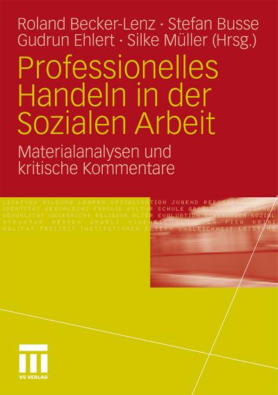 Professionelles Handeln in der Sozialen Arbeit