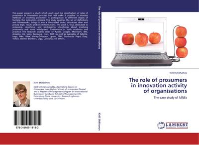 The role of prosumers  in innovation activity  of organisations