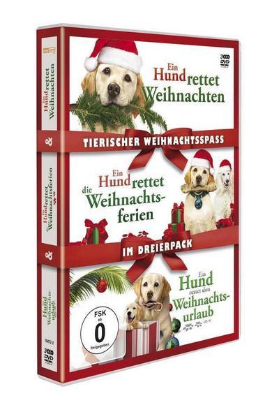 Tierischer Weihnachtsspaß - Ein Hund rettet Weihnachten / Ein Hund rettet die Weihnachtsferien / Ein Hund rettet den Weihnachtsurlaub DVD-Box