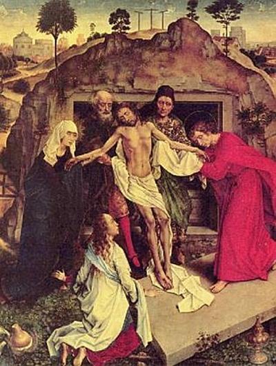 Rogier van der Weyden - Grablegung Christi - 200 Teile (Puzzle)