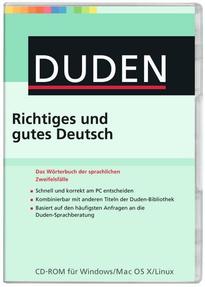 Duden - Richtiges und gutes Deutsch, 1 CD-ROM