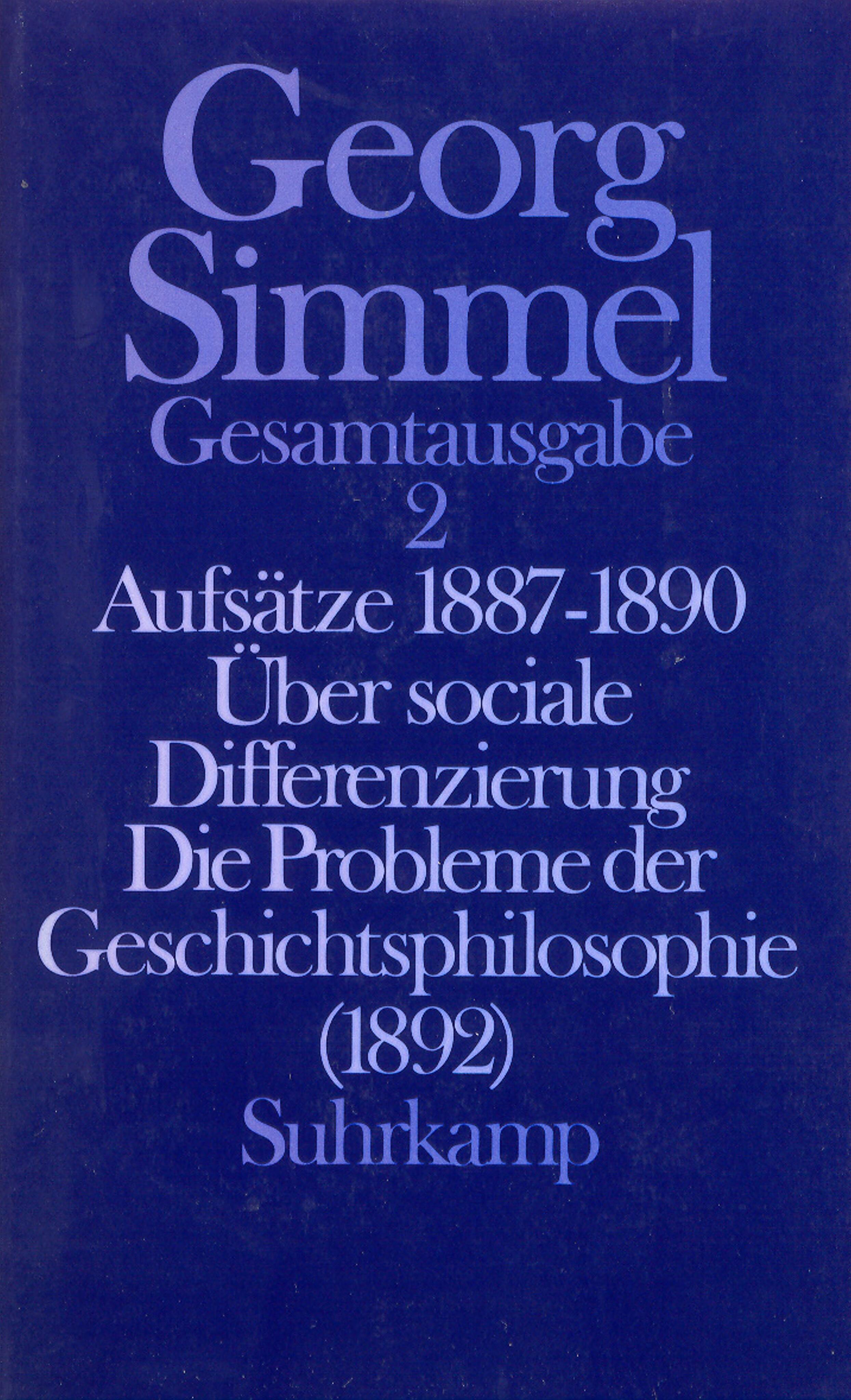 Aufsätze 1878 bis 1890, Heinz-Jürgen Dahme