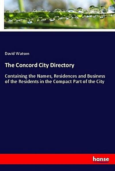 The Concord City Directory