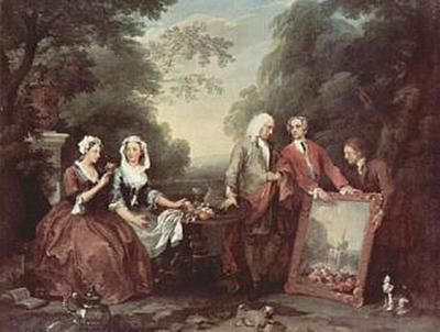 William Hogarth - Familie Fountaine, Familienporträt - 200 Teile (Puzzle)
