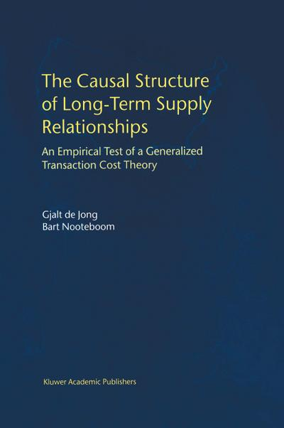 Causal Structure of Long-Term Supply Relationships