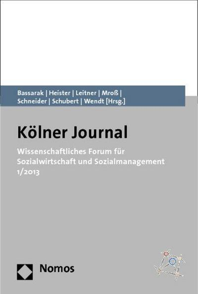 Wissenschaftliches Forum für Sozialwirtschaft und Sozialmanagement 1/2013