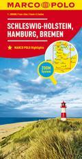 MARCO POLO Karte Deutschland Blatt 1 Schleswig-Holstein 1:200 000