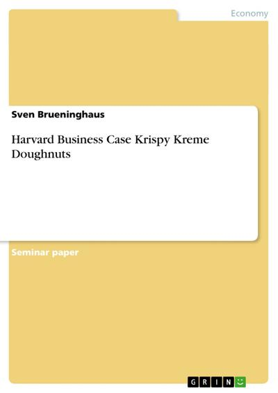 Harvard Business Case Krispy Kreme Doughnuts