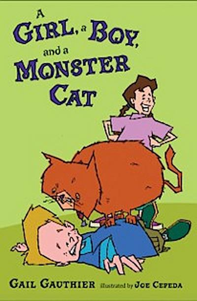 Girl, a Boy, and a Monster Cat