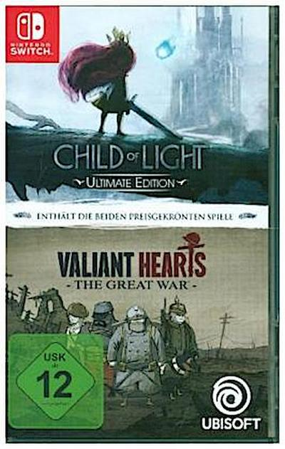 Child of Light - Ultimate Edtion + Valiant Heart - The Grat War, 1 Nintendo Switch-Spiel