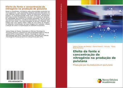 Efeito da fonte e concentração de nitrogênio na produção de pululana