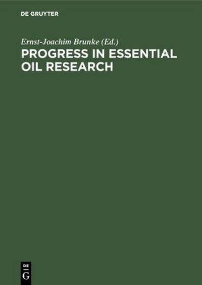 Progress in Essential Oil Research