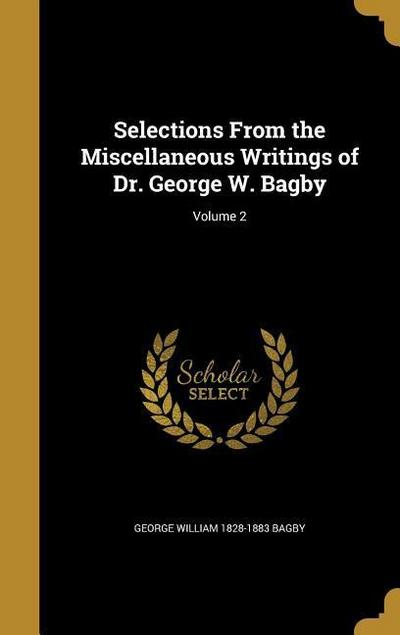 SELECTIONS FROM THE MISC WRITI