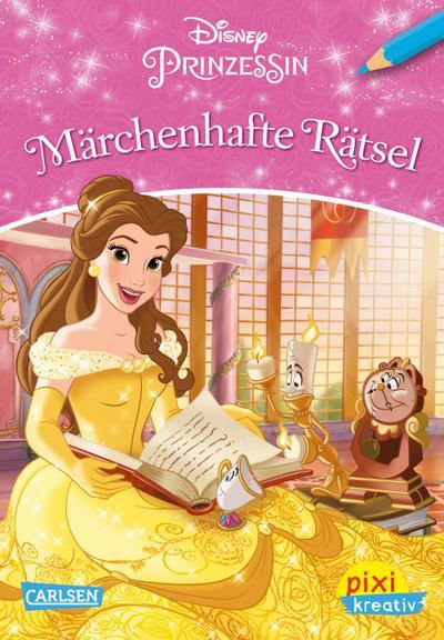 Pixi kreativ Nr. 114: VE 5 Disney Prinzessin - Märchenhafte Rätsel (5 Exemplare)
