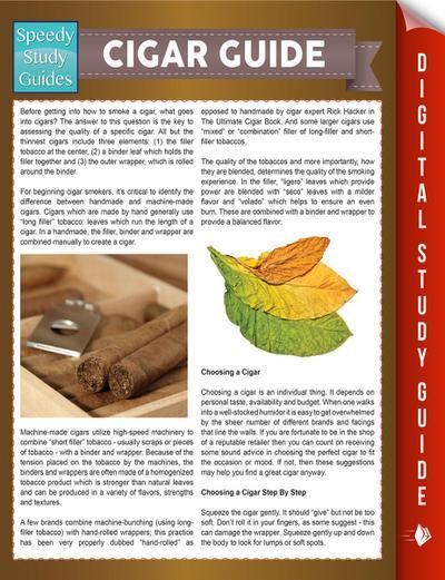 Cigar Guide (Speedy Study Guides)