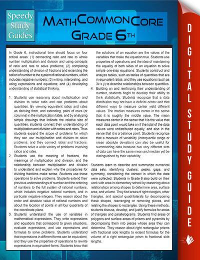 Math Common Core 6th Grade (Speedy Study Guides)