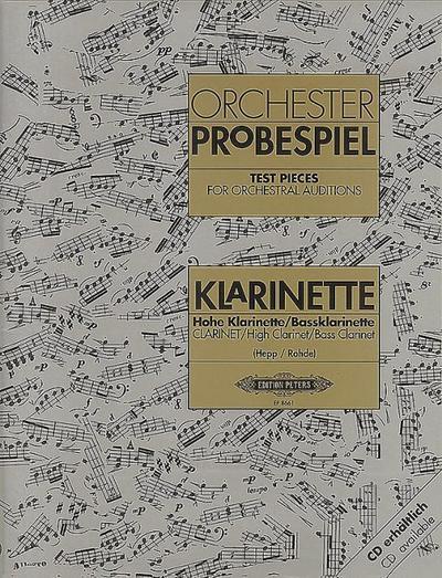 Repertorio Orquestal - Orchester Probenspiel (Test Pieces) para Clarinete (Libro) (Hepp/Rohde)