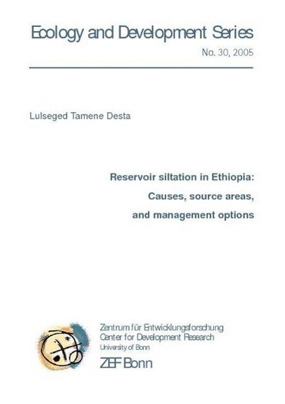 Reservoir siltation in Ethiopia:
