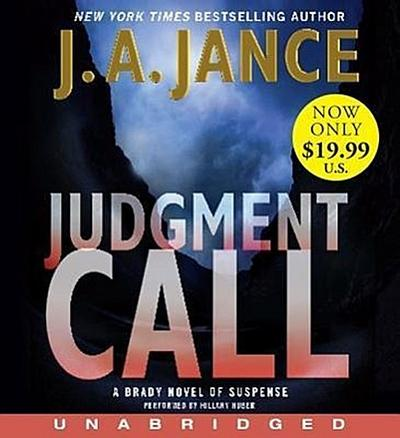 Judgment Call Low Price CD: A Brady Novel of Suspense