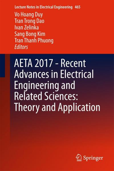 AETA 2017 - Recent Advances in Electrical Engineering and Related Sciences: Theory and Application