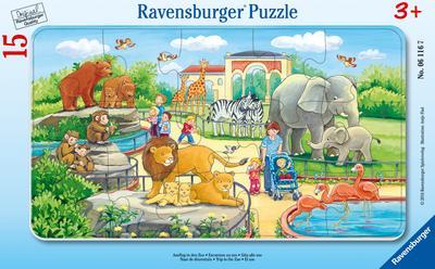 Ausflug in den Zoo 15 Teile Rahmenpuzzles
