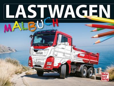 Lastwagen-Malbuch; Deutsch; 30 Zeich., 30 farb. Fotos