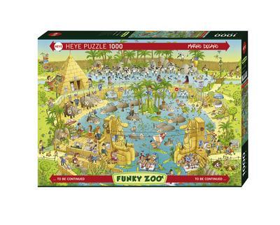 Heye 29693 - Standardpuzzle, Marino Degano Zoo Nile Habitat, 1000 Teile