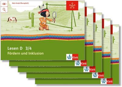 Mein Indianerheft. Lesen D. Fördern und Inklusion. Arbeitsheft Klasse 4 (5-er Paket)