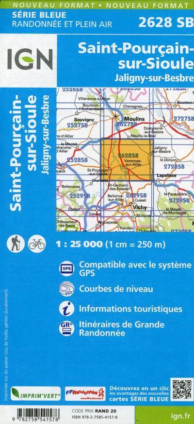 Saint-Pourçain-sur-Sioule 1:25 000