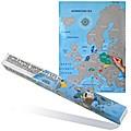 Landkarte zum Freirubbeln Europa