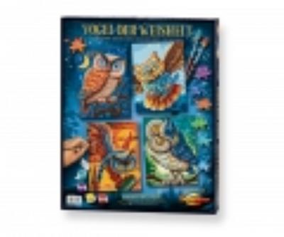 Schipper 609340701 - Malen nach Zahlen - Vogel der Weisheit (Quattro), 18 x 24 cm - Noris Spiele Gmbh - Spielzeug, Niederländisch| Englisch| Französisch| Deutsch| Italienisch| Russisch, , ,