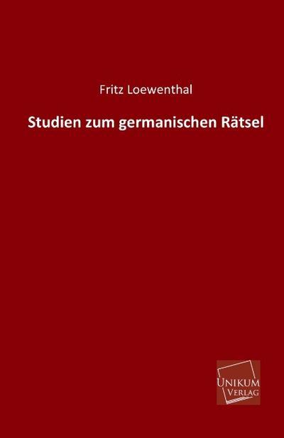 Studien zum germanischen Rätsel