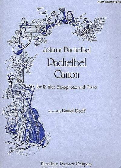 Canon : for alto saxophoneand piano