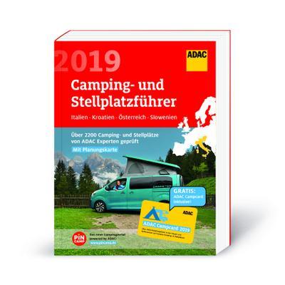 ADAC Camping- und Stellplatzführer Italien, Kroatien, Österreich, Slowenien 2019