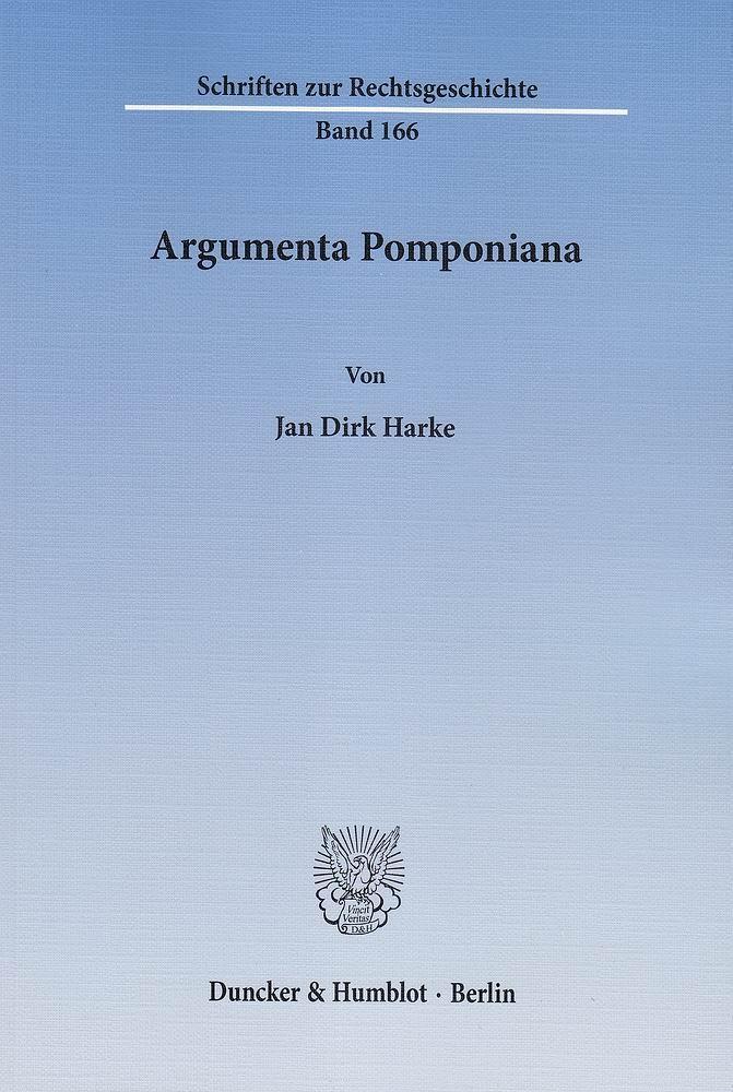 Argumenta Pomponiana Jan Dirk Harke