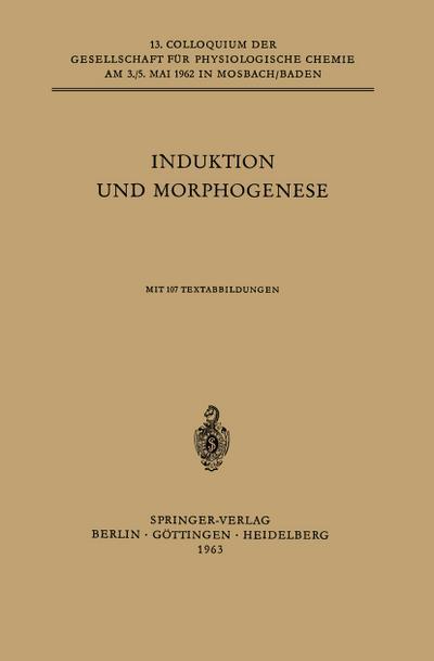 Induktion und Morphogenese