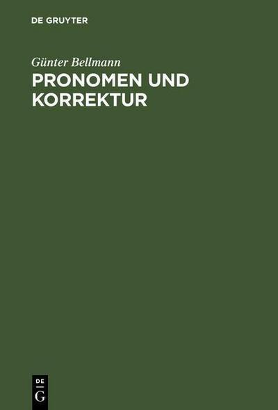 Pronomen und Korrektur