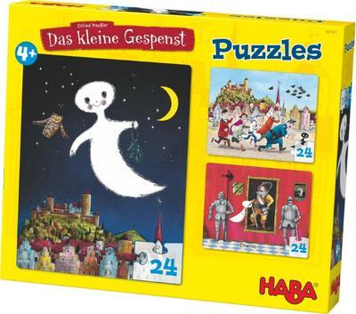 Das kleine Gespenst. 3 x 24 Teile Puzzle