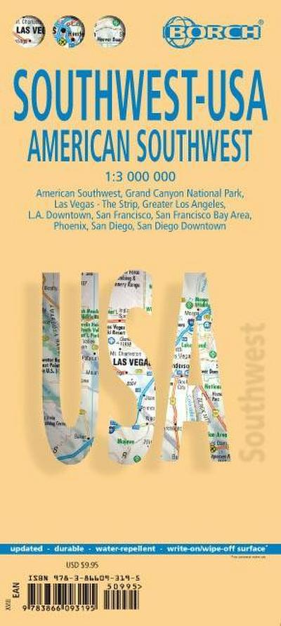 American Southwest 1 : 3 000 000. Road Map + City Maps