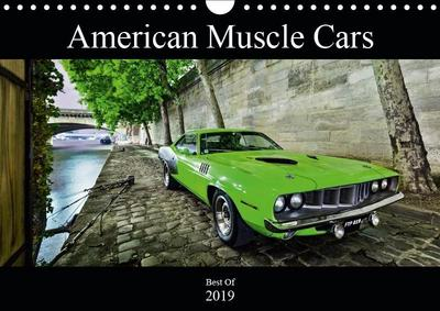 American Muscle Cars (Wall Calendar 2019 DIN A4 Landscape)