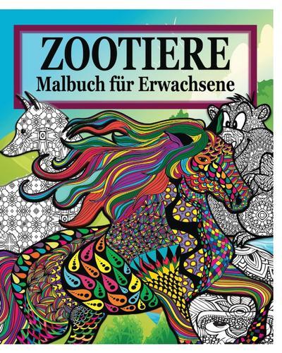 Zootiere Malbuch Fur Erwachsene