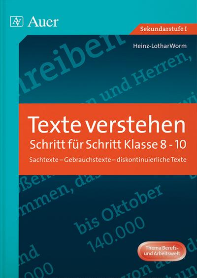 Texte verstehen - Schritt für Schritt, Klasse 8-10