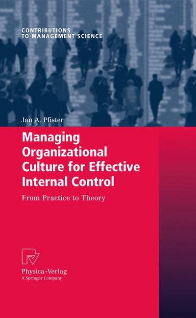 Managing Organizational Culture for Effective Internal Control