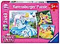 Disney Palace Pets: Belle, Cinderella und Rapunzel. Puzzle 3 x 49 Teile