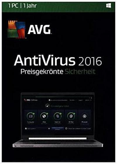 AVG AntiVirus 2016 - 1 PC, DVD-ROM