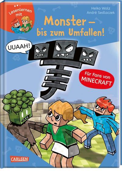Lesenlernen mit Spaß - Minecraft 2: Monster - bis zum Umfallen!