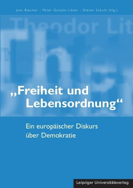 """""""""""Freiheit und Lebensordnung"""""""" Jens Blecher"""