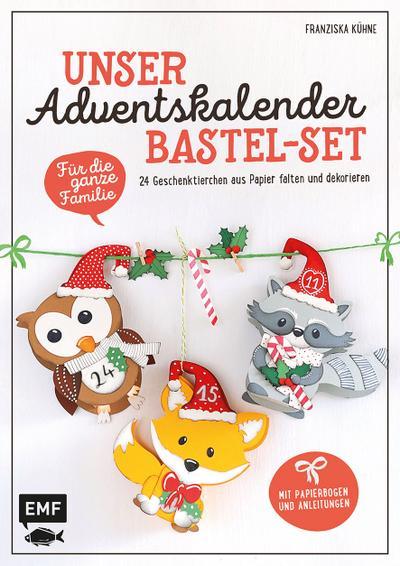 Unser Adventskalender Bastel-Set - Für die ganze Familie - Mit Papierbogen und Anleitungen