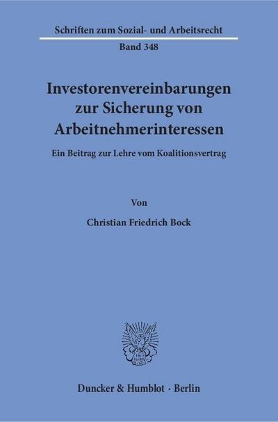 Investorenvereinbarungen zur Sicherung von Arbeitnehmerinteressen.